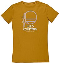 Wild Country Graphic - T-Shirt arrampicata - donna, Brown