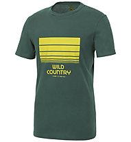 Wild Country Stamina - T-shirt arrampicata - uomo, Dark Green/Yellow