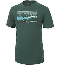 Wild Country Stamina - T-shirt arrampicata - uomo, Dark Green/Light Blue