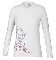 Wild Roses Harriet R-Neck Shirt Langarm Damen, White Sail