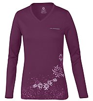 Wild Roses Isadora WR Logo R-Neck Maglia a maniche lunghe Donna, Light Berry