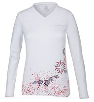 Wild Roses Isadora WR Logo R-Neck Maglia a maniche lunghe Donna, White Sail