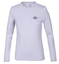 Wild Roses Lizette WR Logo R-Neck Shirt Langarm Damen, Lavander Grey