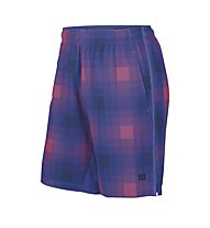 "Wilson Blur Str Wvn 10"" Short - kurze Tennishose, Blue Iris Plaid/Coal"
