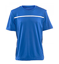 Wilson Boys Team Crew Tennisshirt Kinder, Blue/White