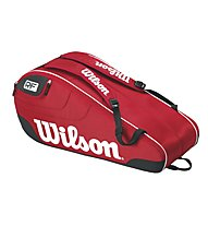 Wilson Federer Team III 6 Pack RD - Tennistasche, Red