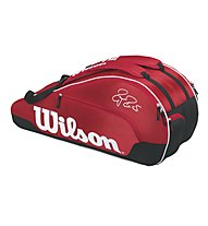 Wilson Federer Team III 6 Pack RD - borsa tennis, Red