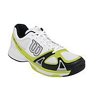 Wilson Rush Evo scarpe tennis, White/Lime