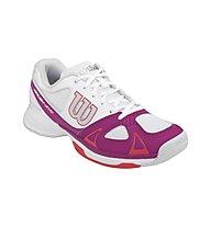 Wilson Rush Evo W - Tennisschuhe, White/Pink