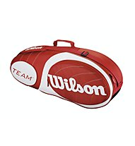 Wilson Team Red 3 Pack - Borsa da Tennis, Red
