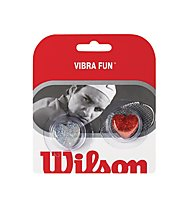 Wilson Vibra Fun Glitter Hearts, Silver/Red
