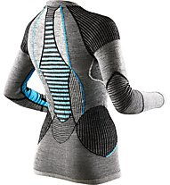 X-Bionic Apani Merino Lady UW - Funktionsshirt Langarm - Damen, Grey/Light Blue