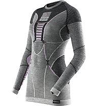 X-Bionic Apani Merino Lady UW - Funktionsshirt Langarm - Damen, Grey/Pink