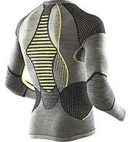 X-Bionic Apani Merino Man UW Shirt LG_SL Round Neck Merino-Funktionsshirt, Black/Yellow