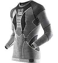 X-Bionic Apani Merino Man UW - Funktionsshirt Langarm - Herren, Black/Grey