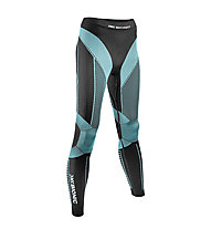 X-Bionic Effector Power Pant Long donna, Black/Turquoise