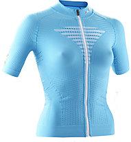 X-Bionic Effektor Biking Powershirt - Radtrikot - Damen, Blue/White