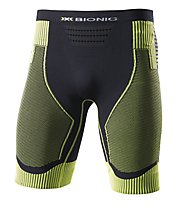 X-Bionic Effektor Power - pantaloncini running - uomo, Black/Green