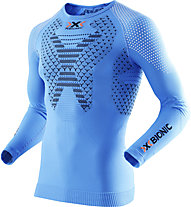 X-Bionic Twyce Long langärmliges Runningshirt, Light Blue/Black