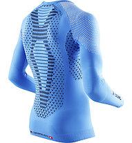 X-Bionic Twyce Long langärmliges Runningshirt, Light Blue/Black