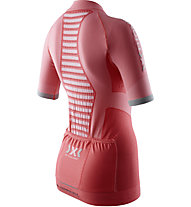 X-Bionic Race Evo Shirt - Radtrikot - Damen, Red/Grey