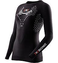 X-Bionic Twyce Running Shirt Long W - langärmliges Runningshirt - Damen, Black/White