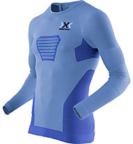 X-Bionic Run Speed Evo - langärmliges Runningshirt - Herren, Light Blue/Grey