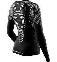 X-Bionic Twyce Lady Long langärmliges Runningshirt für Damen, Black/White
