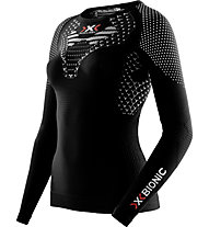 X-Bionic Twyce Running Lady Shirt Long - maglia running donna, Black/White