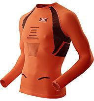 X-Bionic The Trick OW Running Shirt - Laufshirt, Orange Sunshine/Black