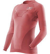 X-Bionic Running Speed EVO Shirt Long W - langärmliges Runningshirt - Damen, Pink/Grey