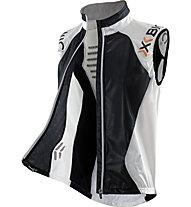 X-Bionic Running Spherewind Vest, White/Black