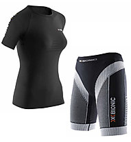 X-Bionic Set Frau: Running Shirt Speed + Running Hose Effektor Power