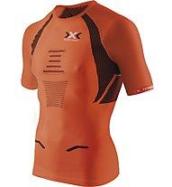 X-Bionic Speed Evo Man Shirt - maglia running, Dark Orange/Black