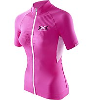 X-Bionic The Trick Biking Shirt, Pink/White