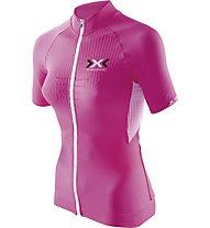 X-Bionic The Trick Biking Shirt, Pink/White