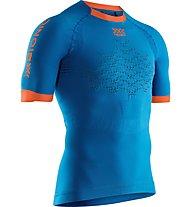 X-Bionic The Trick G2 Run Shirt - maglia running - uomo, Blue/Orange