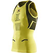 X-Bionic The Trick - top running - uomo, Yellow