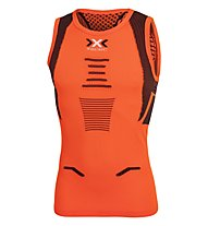 X-Bionic The Trick - top running - uomo, Orange/Black