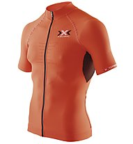 X-Bionic The Trick Shirt Short Sleeves Full Zip, Orange