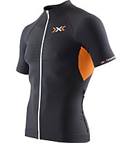 X-Bionic The Trick Full Zip - Radtrikot - Herren, Black/Orange