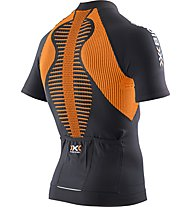 X-Bionic The Trick Shirt Short Sleeves Full Zip, Black/Orange