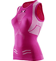 X-Bionic The Trick - Ärmelloses Laufshirt - Damen, Pink/White