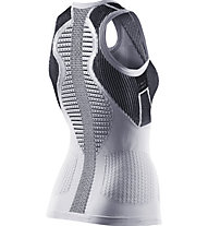 X-Bionic The Trick - top running - donna, Black/White