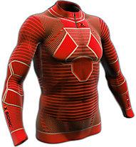 X-Bionic Trail Man Effektor Long langärmliges Runningshirt für Trailrunner, Red/Black
