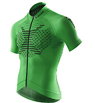 X-Bionic Twyce Bike Shirt Short - Radtrikot - Herren, Green/Black