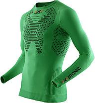 X-Bionic Twyce Running Long - langärmliges Runningshirt - Herren, Green/Black