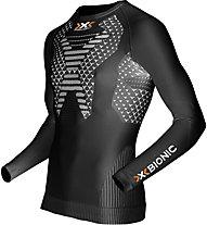 X-Bionic Twyce Running Long - langärmliges Runningshirt - Herren, Black/White