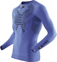 X-Bionic Twyce Running Long - langärmliges Runningshirt - Herren, Light Blue/Black