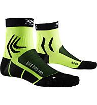 X-Socks Bike Pro Mid - kurze Fahrradsocken, Black/Yellow